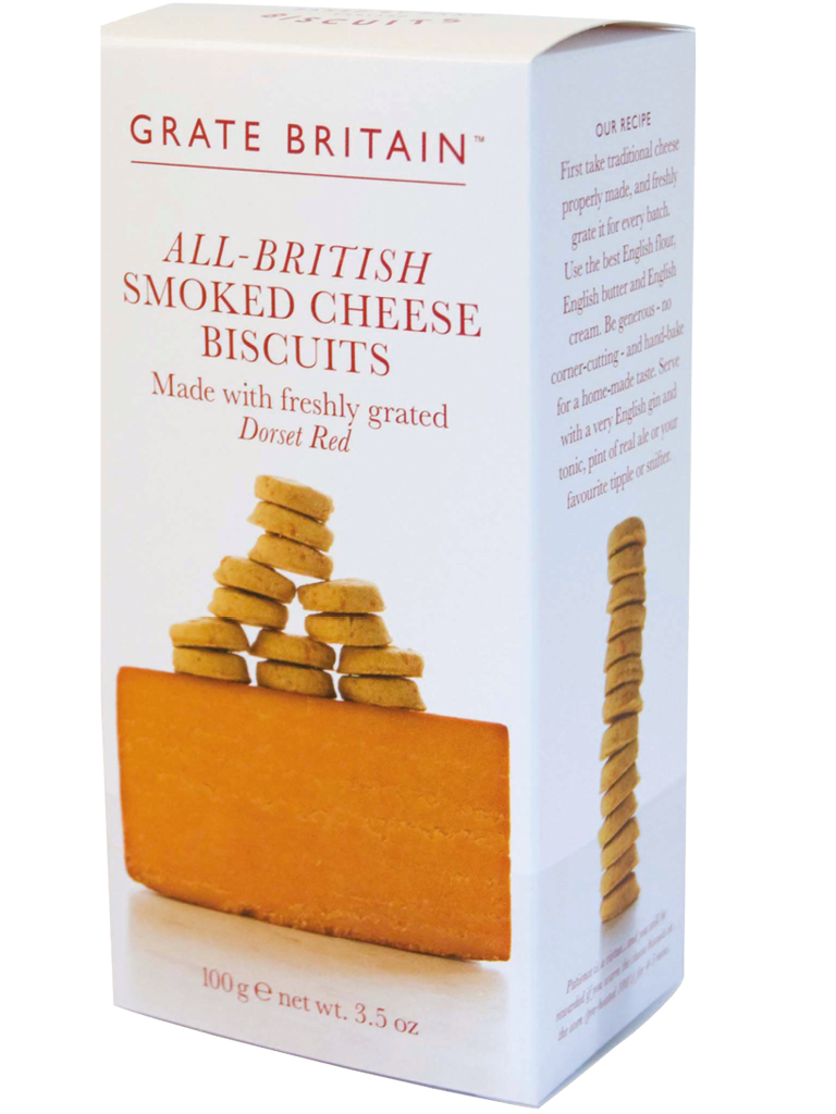 ALL BRITISH  SMOKED CHEESE BISCUITS