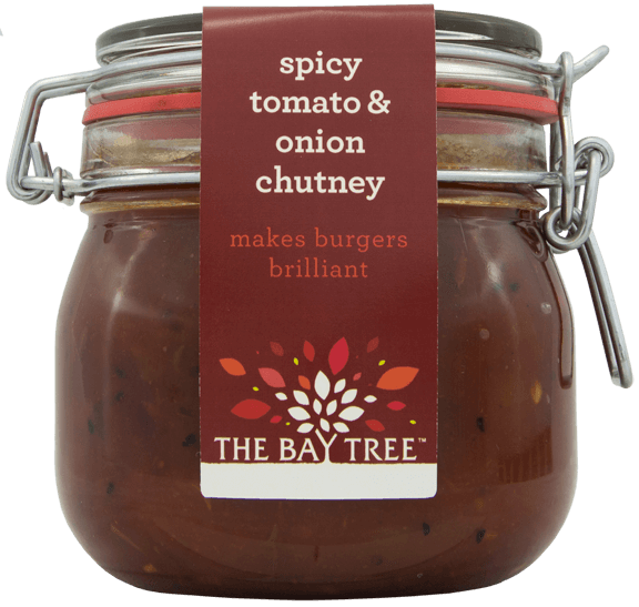 Spicy Tomato & Caramelised Onion Chutney Kilner Style jar