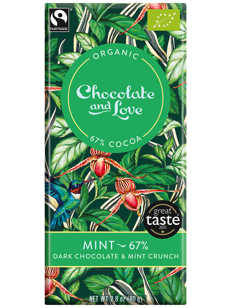 Chocolate and Love Mint bar 80g
