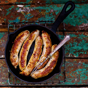 Bourbon & Sweet Chilli Sausages recipe